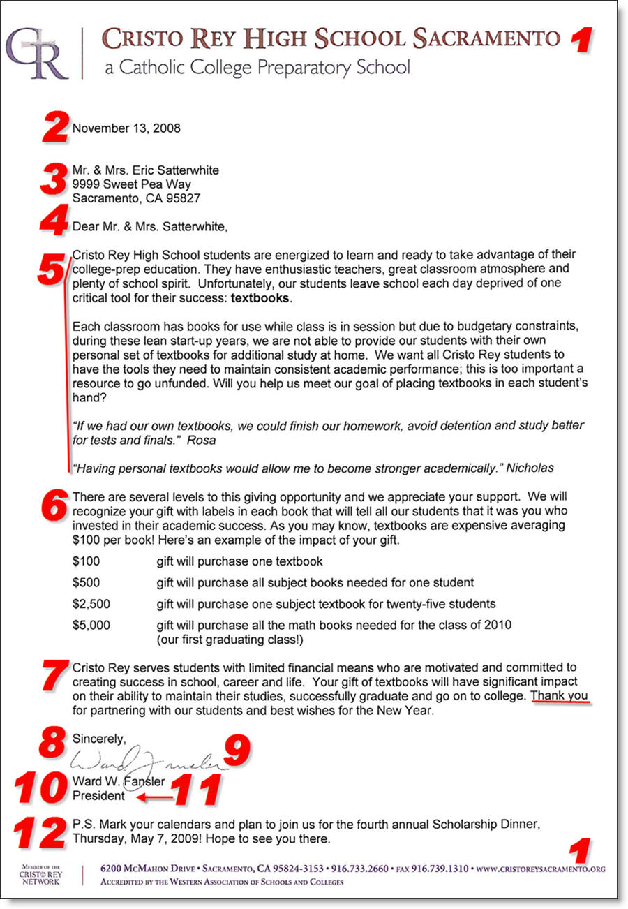 Fundraising Donation Letter Template 12 Items to Include in – Donation Letters